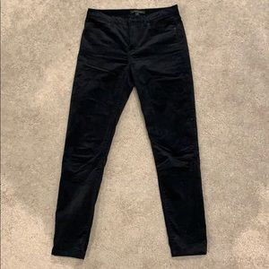 Black Velvet mid rise pants
